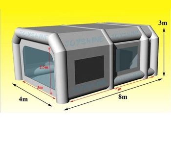 Portable PVC Inflatable Car Painting Spray Booth Garage Tent Outdoor Used Large Mobile Paint Booths For Cars