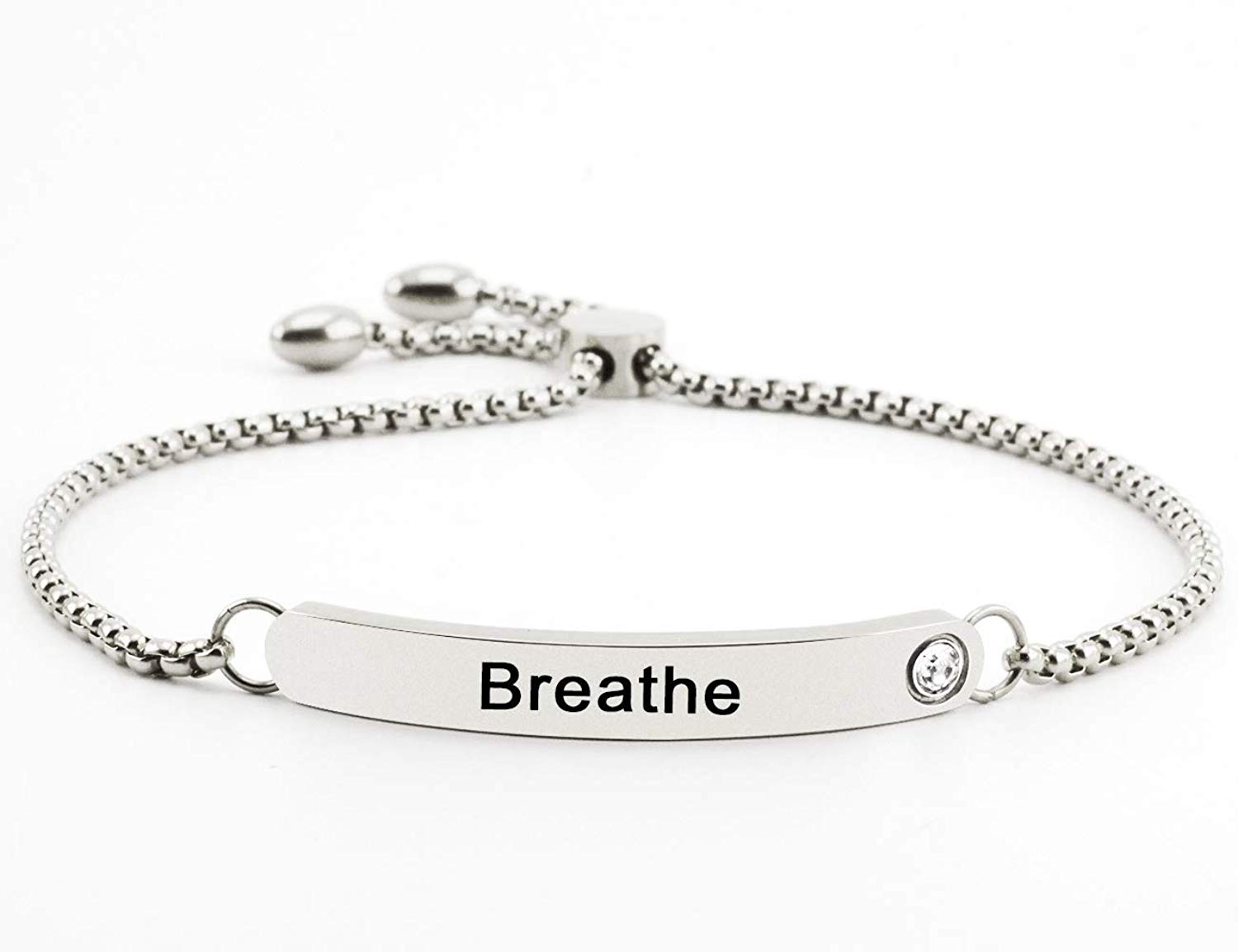 Goodfully Personal Mantra Message Cuff Bracelet Inspirational Motivational Quote Jewelry