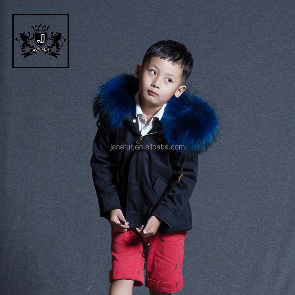 High Quality Winter kids Jacket Faux Fur Lining Winter Parka