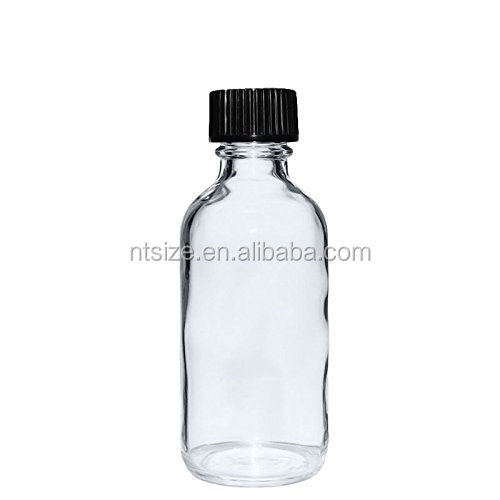 2 oz Clear Boston Round Bottles for chemical medical liquid