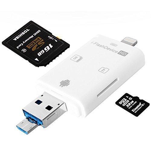 sports shoes 1218d 52436 Buy iNassen Multiple SD Card reader, Lightning USB OTG SDHC Micro SD ...