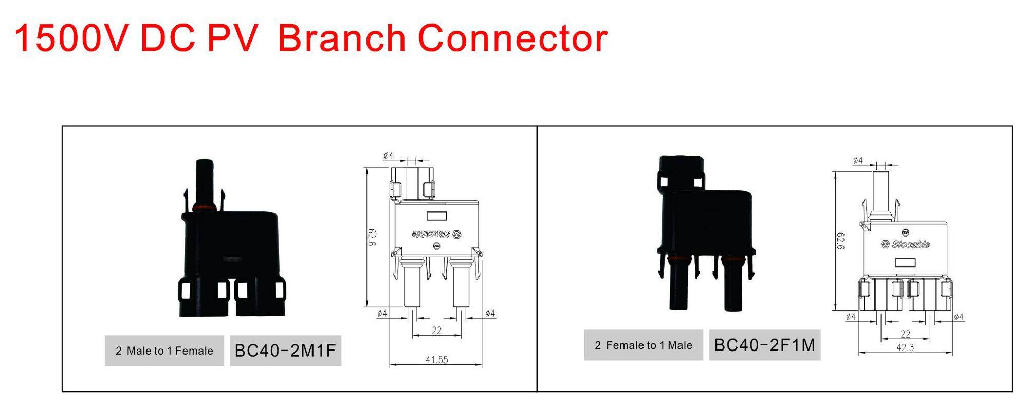 tuv approved safe mc4 t solar branch connector
