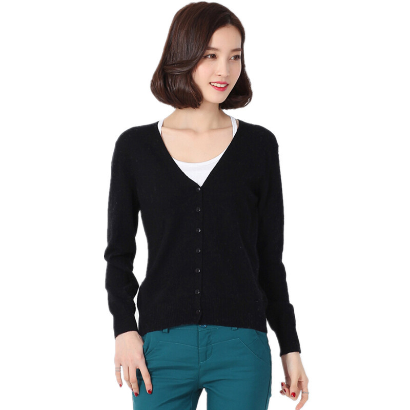 9eef7d64b48 Buy Cardigans 2015 Women Fashion Fall Winter Cashmere Womens Sweaters V  Neck Knitted Womens Cardigan Long Sleeve Warm Outwear ZZH028 in Cheap Price  on ...