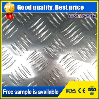 5052 5083 Five Bar Embossed Aluminum Sheet