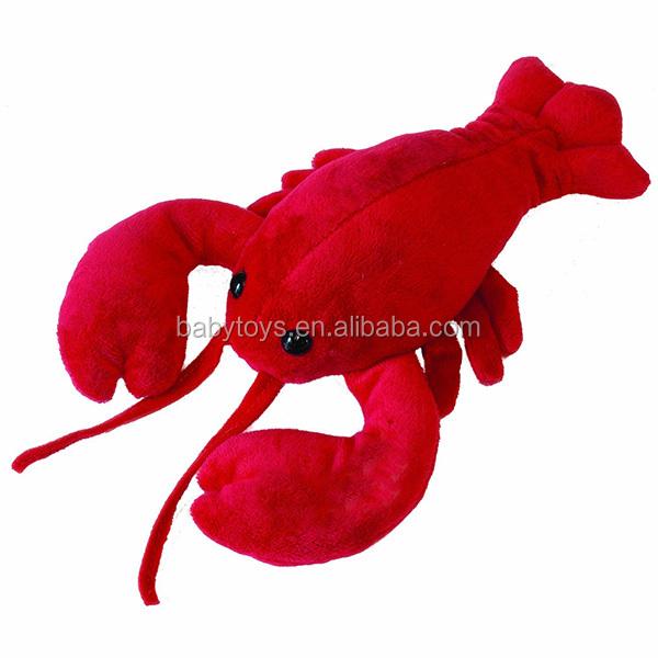 Peluches Simpatico Gamberetto Giapponese Gambero Rosso Peluche Ciondolo Bambola Giocattolo Peluche Portachiavi Doppia Fibbia in Ferro