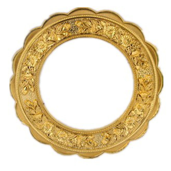 Hot sale round golden carving flower type frame