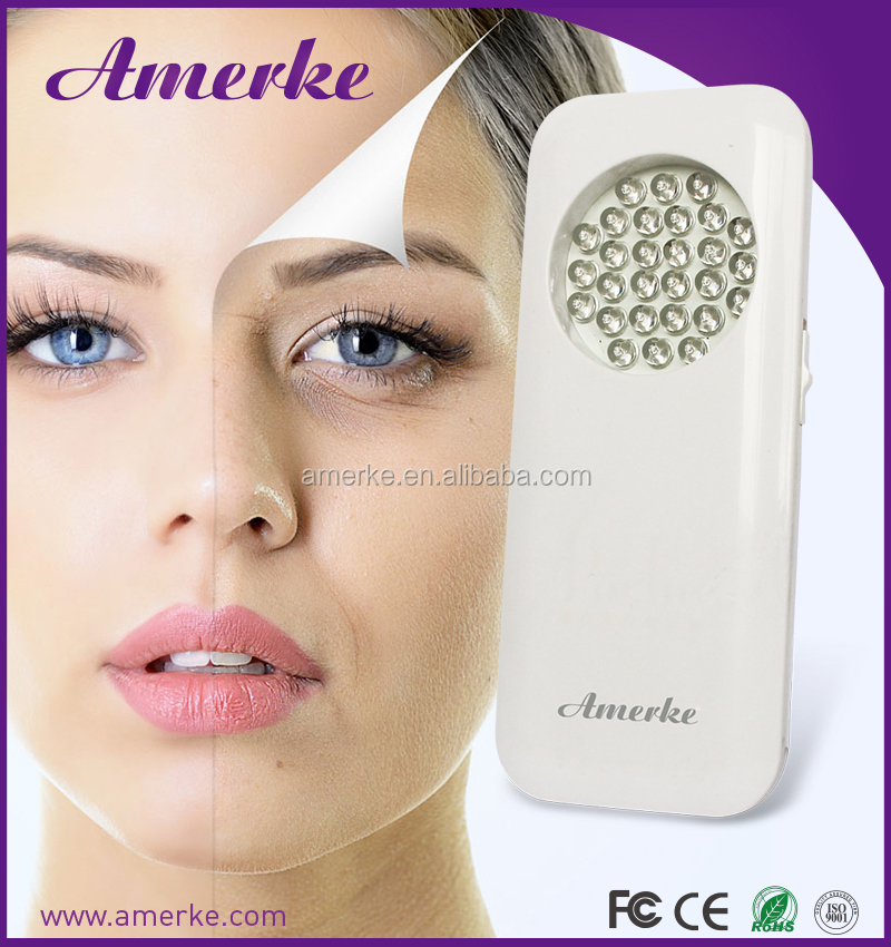 Amerke rechargeable handheld red blue led light therapy anti aging forever young magic slim wholesale weight loss