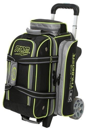 Storm 2 Ball Rolling Thunder Bowling Bag- Black/Gray/Lime ()