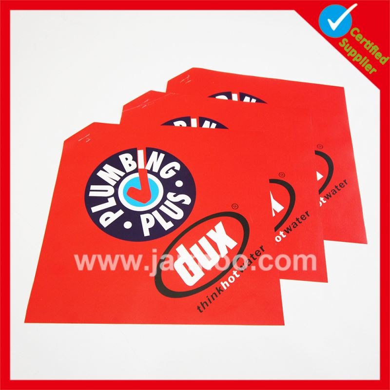 Full color printing advertising free samples red safety flags