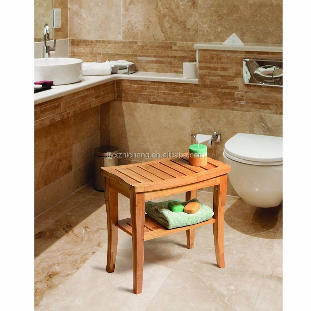 Banc Salle De Bain Bambou ~  cologique en bambou accessoires de salle de bains de douche en
