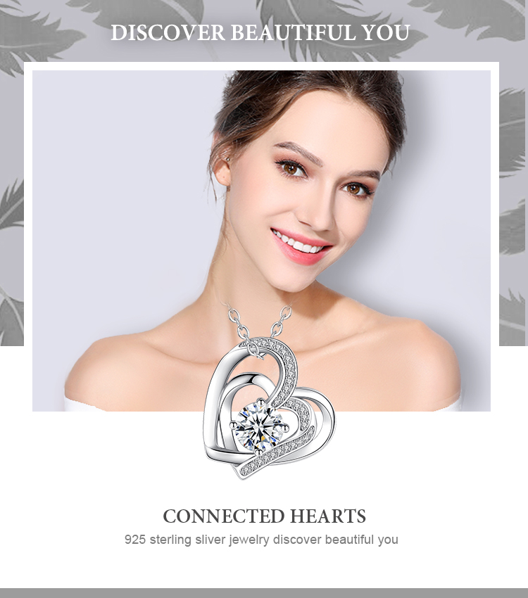 925 sterling silver i love you 두 번 heart 몇 펜 던 트 necklace
