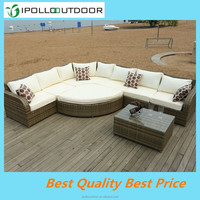 2016 popular design modern outdoor garden rattan sofa