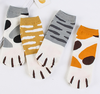 2018 new design manufacturers wholesale women summer cat PAWS socks short all cotton lovely lady cartoon socks