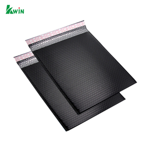 Stock Colored Matte Wholesale Black Metallic Foil Bubble Poly Mailer With Logo