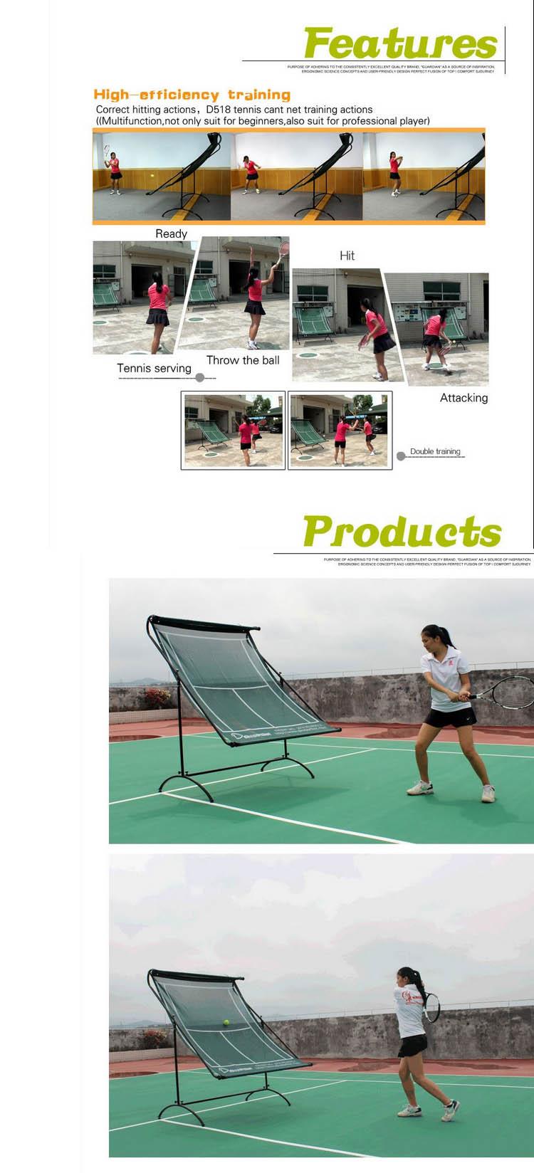 SIBOASI manufacture tennis rebounder practice net with steel material D518