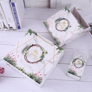 marble christmas paper scarf chocolate small folding wedding customised fancy gift jewelry packaging candy box set luxury Custom