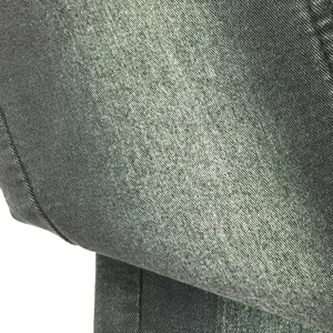 Cotton polyester spandex after wash denim stocklot jeans denim fabric