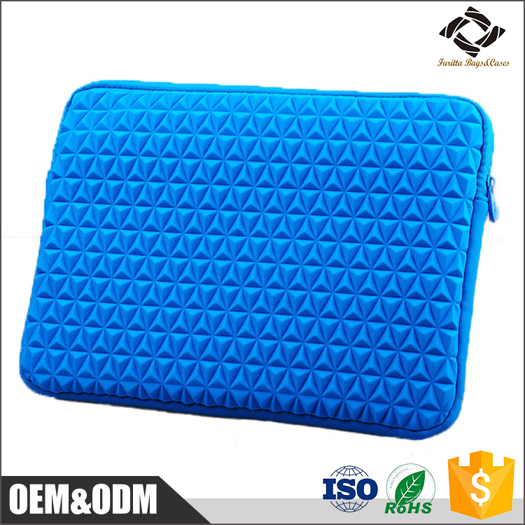 Custom logo printed 10'' inch bule waterproof neoprene laptop sleeve case for ipad / laptop