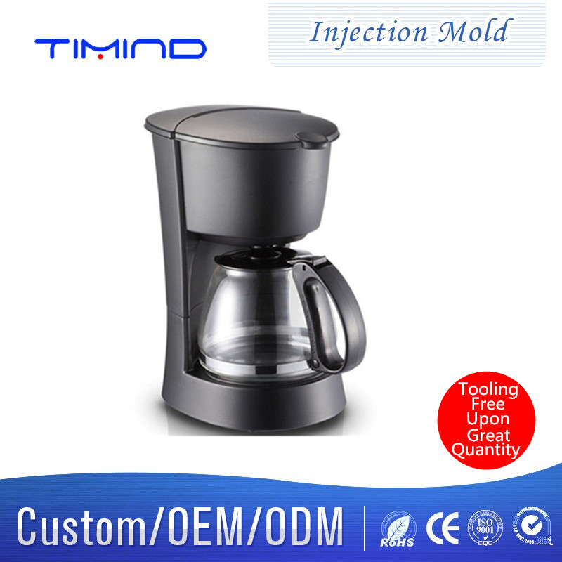 Timind demestic espresso machine plastic shell mold injection molding Plastic mold design and development