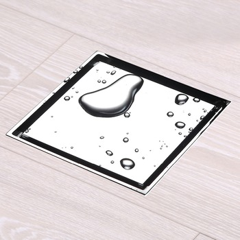 10X10 Cm Anti-Odor Design Concrete Tile Insert Brass Invisible Floor Drain