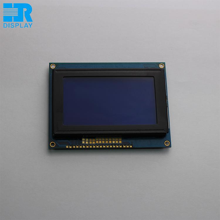 Écran monochrome lcd 128x64 lcd module d affichage graphique STN bleu mode  avec polices De 4beb0b11925e
