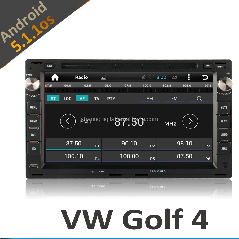 vw golf 4 car dvd player with gps with Android 5.1.1 quad-core 16GB