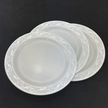 Disposable 10\u0026quot; round wholesale plastic charger plates & Disposable 10\