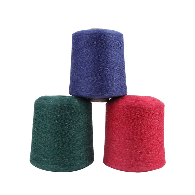 15%Linen 85%Polyester Dyed Cotton Linen yarn For Making Dress