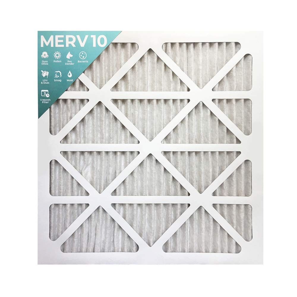 """20x25x1 Merv 10 Pleated AC Furnace Air Filters. 6 Pack (Actual Size: 19 ½""""x 24 ½"""" x 7/8"""")"""