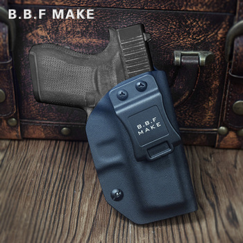 Wholesale IWB KYDEX Holster Custom Fits: Glock 43 Gun Holster Inside Concealed Carry Holsters Pistol Case Guns Bag Accessories