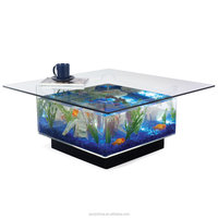 home furniture luxury high glass acrylic table with aquarium acrylic Aquarium Fish Tank for fish