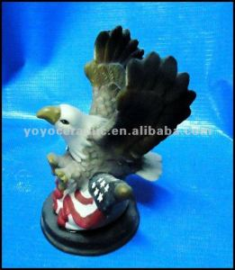 ceramic eagle decoration