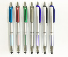 Cool Silver Metallic Office Promotional Touch Screen Stylus Ball Pen