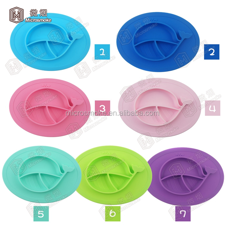 Factory supply children baby suction cup bowl pad eat mat feeding suction cup table mat silicone baby placemat