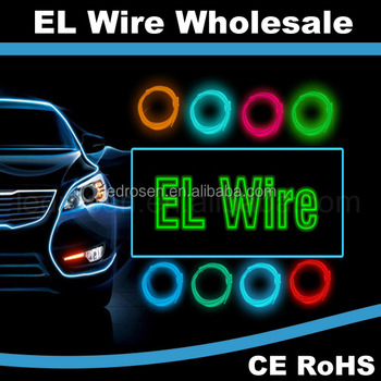 Electroluminescent El Wire For Clothing Sunglasses - Buy El Wire ...