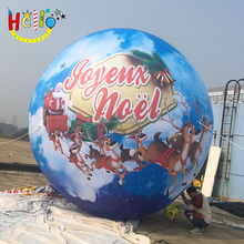 2017 New brand Attractive giant Printed Inflatable Christmas Decoration Ball For Christmas Decoration