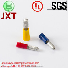 JXT UL CE SGS ROHS ISO9001 crimp terminals PVC MPD male terminals red blue vinyl insulated male bullets
