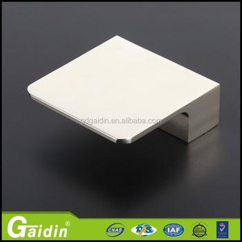 Aluminum Furniture Finger Pull Cabinet Handle S Shape Handles