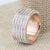 Stainless Steel Rose Gold Plated Engagement Wedding Ring