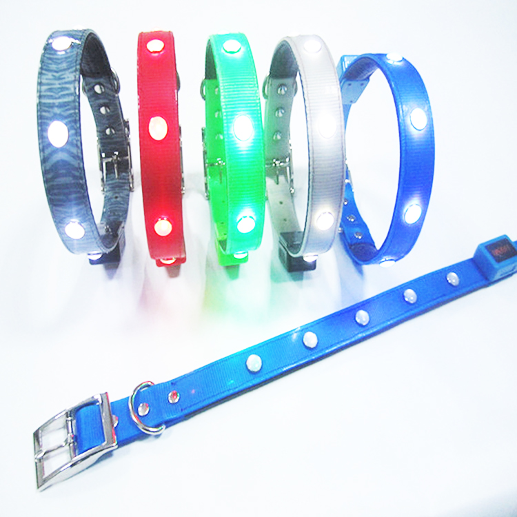 Water Repellent Led Flashing Dog Collar, Tpu And Foam Material