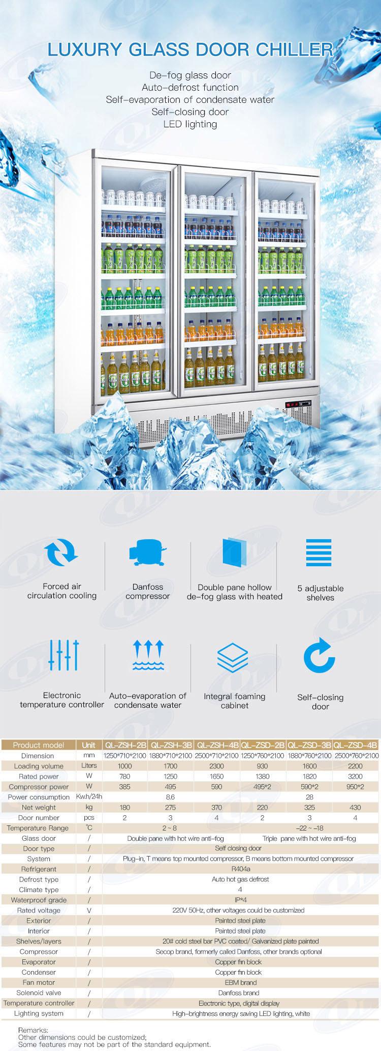 Freddo bevande chiller bevanda di raffreddamento frigo