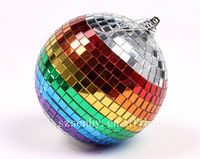 2013 mini christmas decoration rainbow disco mirror balls