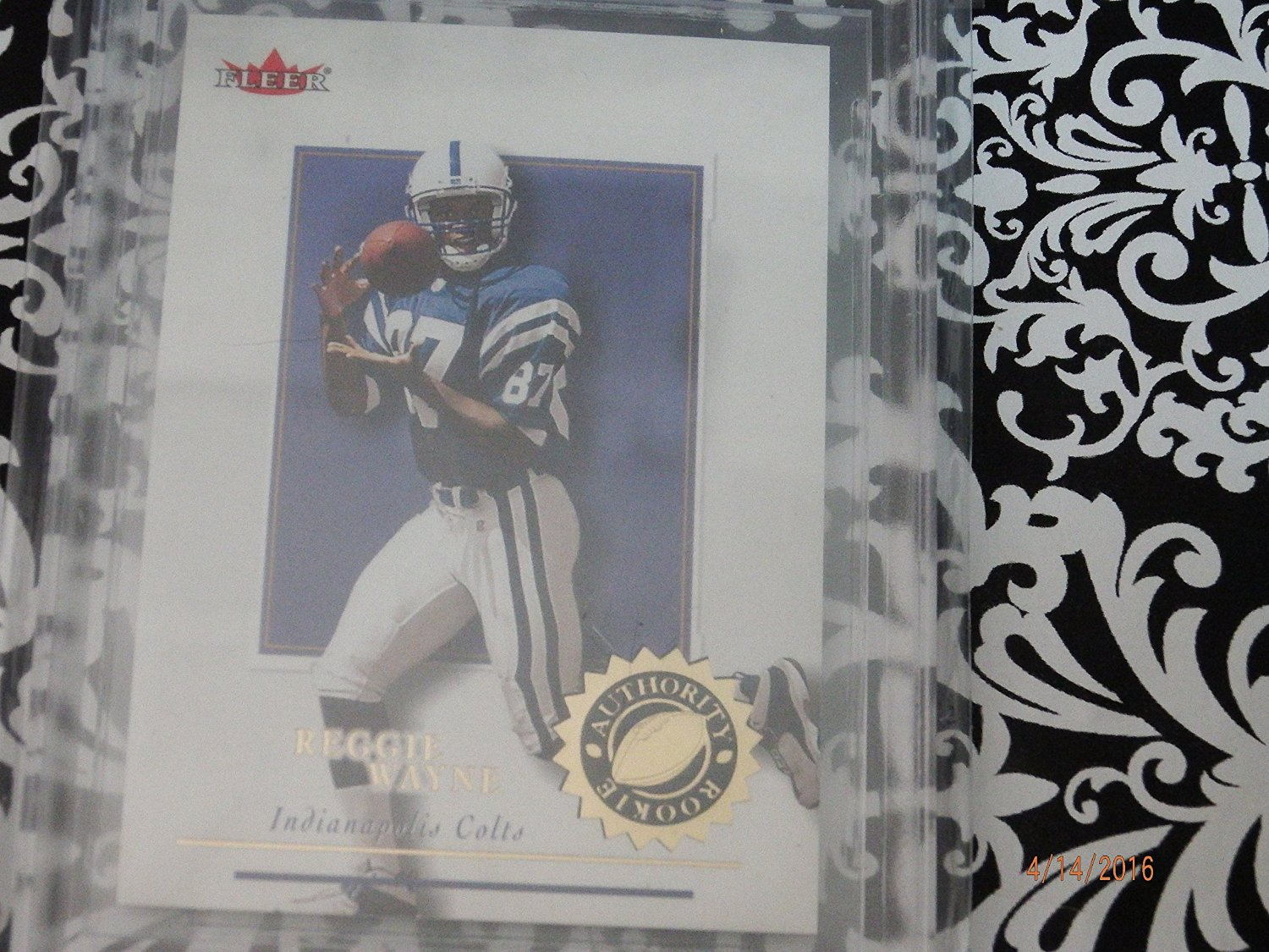 2001 Fleer Authority Reggie Wayne #/1350 #111 Colts Rookie RC BGS 9 Mint