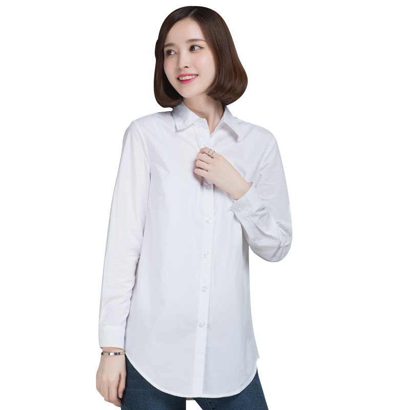 36d7a70eab377 Buy Autumn Spring Women Long White Shirts Size S-2XL All-match Good Quality  Long Sleeve Lady Casual Cotton Blouse  amp  Tops in Cheap Price on  m.alibaba.com