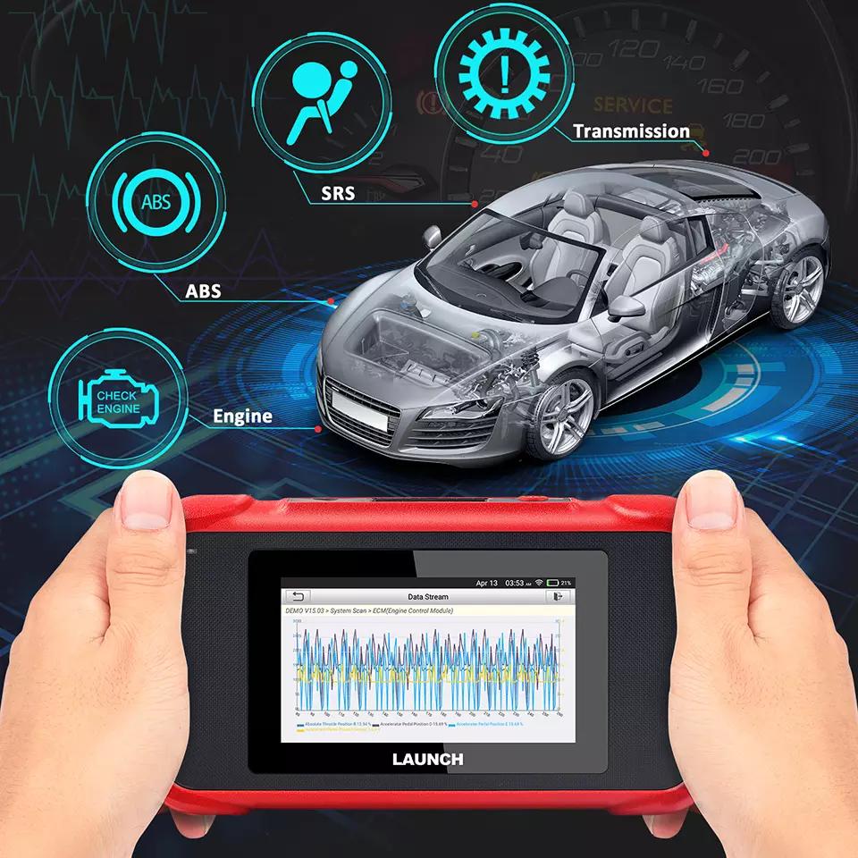 Car OBD2 Diagnostic Tool Auto OBDII Scanner Trans EPB//Oil//SAS// ETS//TPMS//Throttle