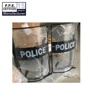 Police equipment anti riot shield with edge cover