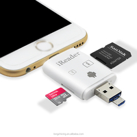 new style SD TF mobile phone otg usb card reader 2-in-1 usb flash drives For phone memory up to 128GB For iPhone Android