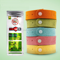 Fishing Usage Custom Logo Adjustable Anti Mosquito Wrist Bands Insect Repellent Bracelet