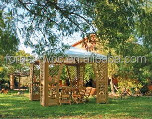 Béton bois pergola confortable belle wpc jardin pergola jardin ...