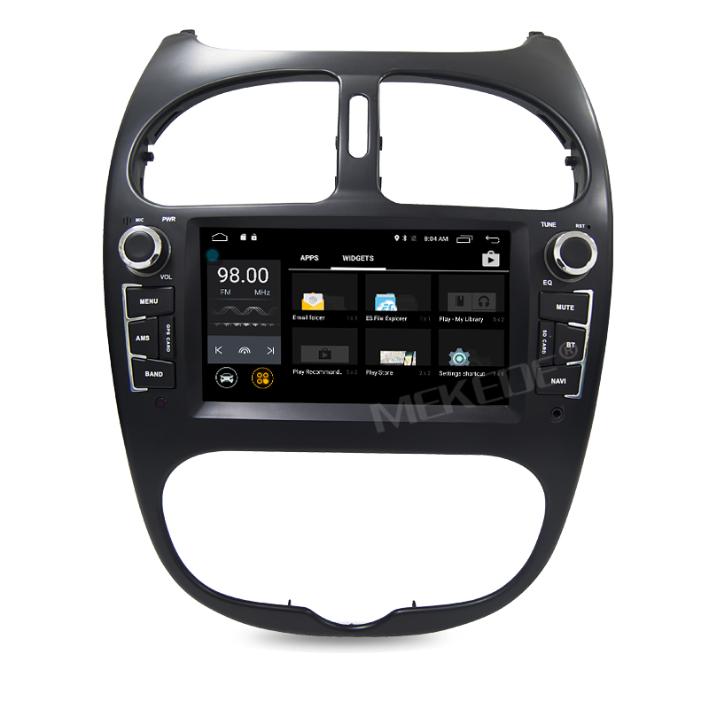 android car multimedia stereo for peugeot 206 radio cd dvd player gps navigation audio video. Black Bedroom Furniture Sets. Home Design Ideas